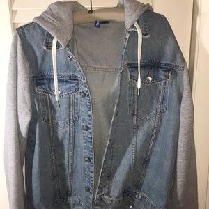 Jean jacket hoodie H&M